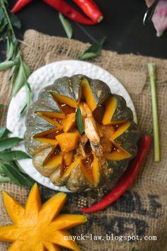 厨苑食谱: 简易南瓜咖喱虾 (Quick &Easy Pumpkin Curry Prawn)