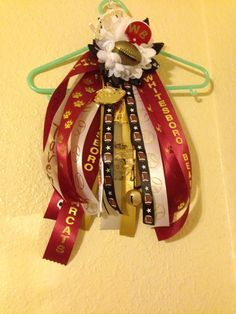 Homecoming garter made from wrist mum for a small arm!! :)
