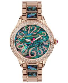 Relojes · Betsey Johnson Women s Abalone-Color and Rose Gold-Tone Bracelet  Watch 40mm BJ00478- 4e71a0014a78