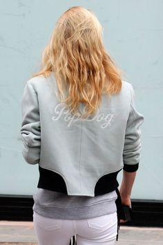 Poppy Delevingne in a customized rag & bone Challenge Jacket #inmyrb