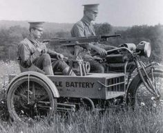1917 - Indian Motorcycle and M1914 Colt Machine Gun
