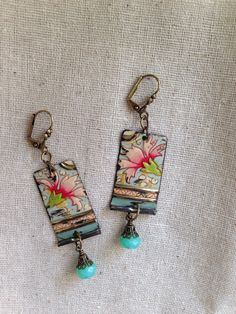 Tin Jewelry Earrings Fleur Distressed Tin for the by TheMadCutter, $28.00