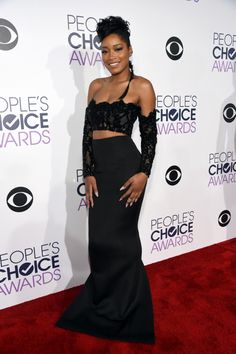 Keke Palmer - People's Choice Awards 2016...Wow, Love it. Change to bridal tones & adjust the detail for that modern bridal look.Try different fabric combinations to fit your style.