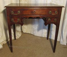 A Georgian Country Oak Lowboy - Antiques Atlas