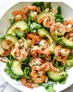 "Meal Prep Recipes on Instagram: ""Citrus Shrimp and Avocado Salad Use some of the citrus sauce from the shrimp as a double duty dressing. Or, if you don't have enough sauce…"""