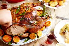 Roast Turkey With Spiced Cranberry, Bacon And Walnut Stuffing Recipe ...