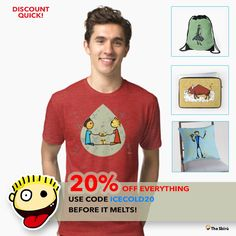 DISCOUNT QUICK! Before it melts use code: ICECOLD20 http://www.redbubble.com/people/giuseppelen       #artwork #drawing #art #thesbirù #redbubble #artprint #shopart #children #joy #child #fun #funny #humor #happiness #childhood #smile #kid #illustration #tshirt #t-shirt #apparel
