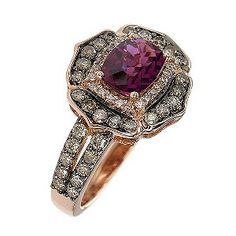 Le Vian garnet and chocolate diamond ring. I like this one even more!