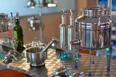 """Fusti (pronounced as foo-stee) is the Italian word for """"drum"""". Normally made from stainless steel, these were originally designed to hold olive oil.  True As Stainless Steel  Click below for more #GISblog"""