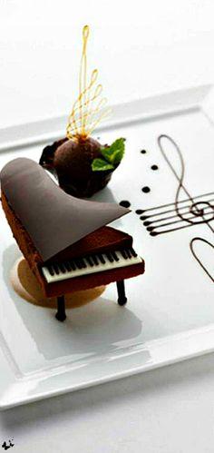 The Dinner Party ◆Luxurious Piano Chocolate Dessert - Via☜ ♔LadyLuxury♔