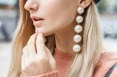 Jewelry Accessories, Jewelry Design, Women Jewelry, Unique Jewelry, Statement Earrings, Pearl Earrings, Drop Earrings, Vintage Wedding Cards, Wedding Card Templates