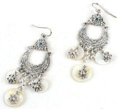 Mother of pearls earrings.  Only for Pinterest fans at $5!    $5