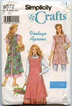 1990s+Apron+Pattern+Simplicity+8372+Misses'+Long+by+GreyDogVintage,+$10.00 - I have this and use it.