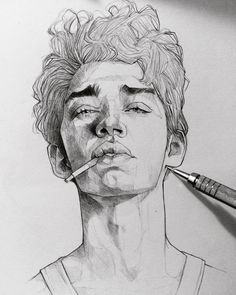The Secrets Of Drawing Realistic Pencil Portraits - . Secrets Of Drawing Realistic Pencil Portraits - Discover The Secrets Of Drawing Realistic Pencil Portraits Face Sketch, Drawing Sketches, Art Drawings, Drawing Faces, Boy Sketch, Drawing Style, Drawing Art, Drawing Ideas, Drawing People Faces