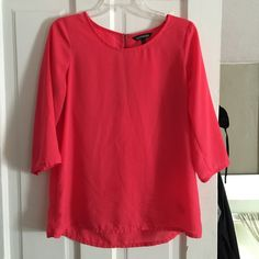 Express top Pink express top size medium, with zipper in the back Express Tops