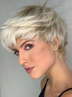 Stay Breezy, Elegant and Unique Easy Hairstyles For Thick Hair, Pixie Haircut For Thick Hair, Pixie Cut Wig, Edgy Pixie, Long Pixie, Pixie Cuts, Cute Pixie Haircuts, Hairstyles Haircuts, Short Haircuts