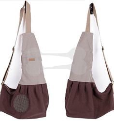 Crazystones Pet Cotton Front Carrier Bag for Outdoor Travel Brown *** Click image to review more details.(This is an Amazon affiliate link and I receive a commission for the sales)