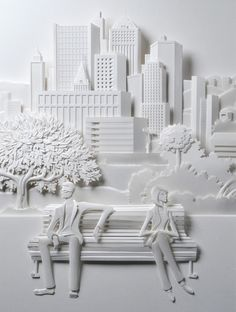 Amazingly intricate 3D paper sculptures by Brazilian artist Carlos Meira.