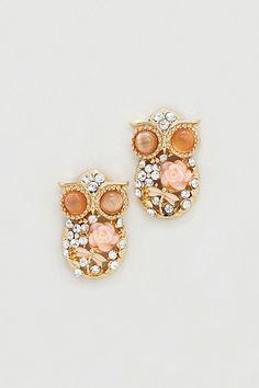 Peechy Owl Earrings