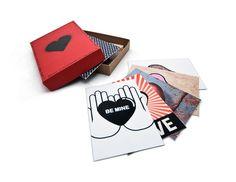 Graffiti Valentine's Day Cards by Casey Kovach, via Behance