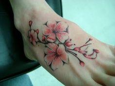 cherry blossom tattoo for wrist | Tattoos Designs for Women: Cherry Blossoms Sakura Tree Blossom Tattoo ...