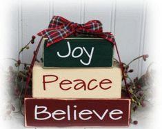 Christmas Wood Block Crafts, Christmas Signs, Christmas Projects, Christmas Themes, Holiday Crafts, Christmas Crafts, Christmas Decorations, Christmas Ornaments, Christmas Blocks