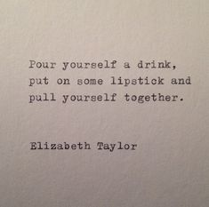 Elizabeth Taylor Quote Hand Typed on Vinatge by WhiteCellarDoor, $9.50