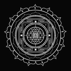 This is the Sri Yantra, one of the oldest and most powerful symbols in human history. It's the Hindu symbol for Creativity & Enlightenment. It is conceived as a place of spiritual pilgrimage. It is a representation of the cosmos at the macrocosmic level a Hindu Symbole, 4 Tattoo, Khmer Tattoo, Chakra Tattoo, Sacred Symbols, Hinduism Symbols, Mandala Symbols, Alchemy Symbols, Flower Of Life