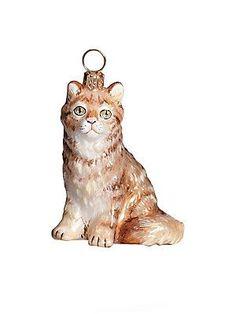 Joy To The World Cat Ornament - No Color