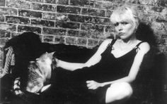 Debbie Harry and cat.