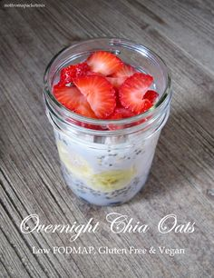 Overnight Chia Oats - Low FODMAP, Gluten Free and Vegan