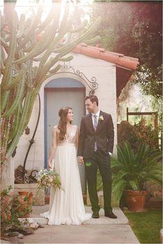 Moorten Botanical Gardens Desert-inspired wedding shoot // see more on thesoutherncaliforniabride.com