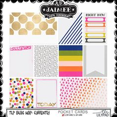 Free Journal Cards from Just Jamiee {part of The Lilypad Currently Blog Hop}
