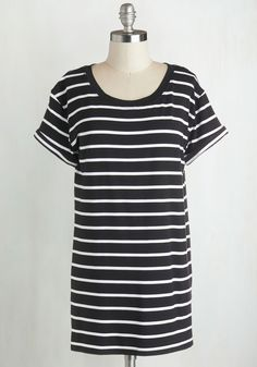 Simplicity on a Saturday Tunic in Black Stripes, @ModCloth