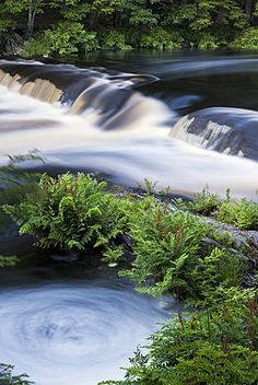 Whirlpool in river, Canada, Nova Scotia, Kejimkujik National Park