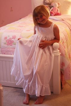 Download Hannah's Nightgown - Sizes 3-8 Sewing Pattern | Pajamas | YouCanMakeThis.com