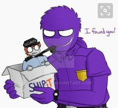 FNaF: I found you! by Beckitty on DeviantArt this ship is growing on me Vincent Fnaf, Fnaf Security Guards, Fnaf Night Guards, Purple Crayon, William Afton, Fnaf Sister Location, Old Names, Circus Baby, I Found You