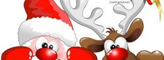 Santa Reindeer Cover plus many other high quality Covers for your Facebook profile at CoverLayout.
