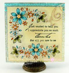 Heartfelt Creations Sun Kissed Fleur Thank you card by Candy Slabaugh