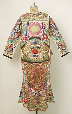 Chinese theatrical costume, front view;  China; collection of The Metropolitan Museum of Art