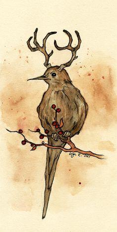the mysterious deerbird by liga-marta on DeviantArt