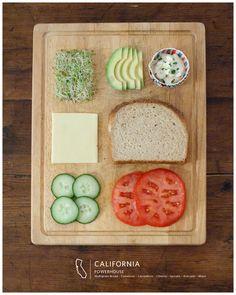 California powerhouse sandwich
