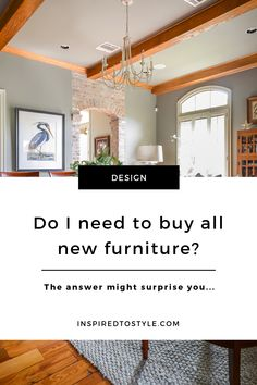 Can I share with you one of the biggest myths people have about design projects?It's the assumption that you need to get rid of ALL of your old furniture and start with a blank slate. Dining Decor, Dining Room Design, Living Room Decor, Bedroom Decor, Interior Design Photography, Design Guidelines, Create Space, New Furniture, Interior Design Inspiration