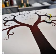 thumbprint tree guest book!!