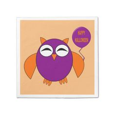 Shop Happy Halloween Party Owl Custom Room Sign created by DestroyingAngel. Happy Halloween, Halloween Party, Halloween Ideas, Paper Owls, Foam Adhesive, Party Napkins, Ecru Color, Dry Erase Board, Room Signs
