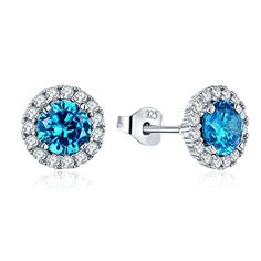 1 Paire Femme Fashion 925 Silver Jewelry blue fire opal Charme Boucle d/'oreille Pendentif ! !