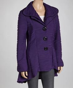 Take a look at this Purple Double Collar Jacket by Come N See on #zulily today!