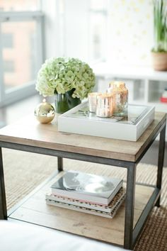 end table styling | Wicker & Stitch: Decorating Tip: Styling With Trays