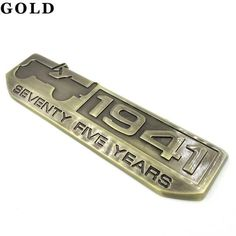 one or tow Set Silver 75 Years Anniversary 1941 Metal 4x4 Trail Rated Emblem Badge Logo for Cherokee Willys Wrangler