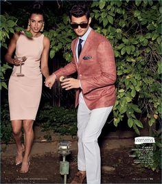American model Garrett Neff wears Canali.